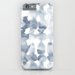 Dye Ovals Blue Fog iPhone Case