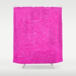 liquid Pink Shower Curtain