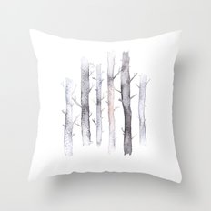 watercolor forest Throw Pillow