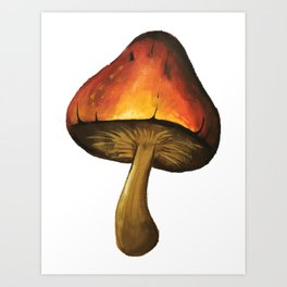The one with the mushroom Art Print