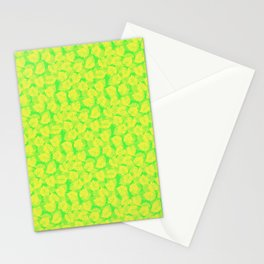 Big Monstera Tropical Leaf Hawaii Rain Forest Lemon Yellow and Lime Green Stationery Cards