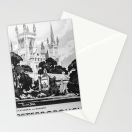 retro monochrome Peterborough Stationery Cards