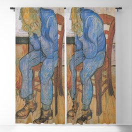 Vincent van Gogh - Sorrowing Old Man (At Eternity's Gate) Blackout Curtain