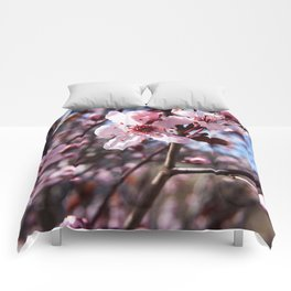 Pink Blossom Photography Print Comforters