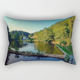 A summer evening along the river   waterscape photography Rectangular Pillow