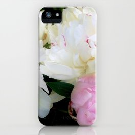 Peonies White & Pink iPhone Case