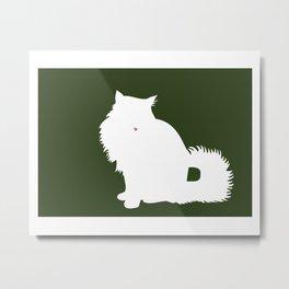 Cat Silhouettes: Norwegian Forest Cat Metal Print