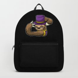 Sloth In A Mardi Gras Costume - Lazy Carnival Backpack