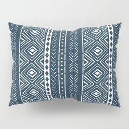 Navy Mudcloth Pillow Sham
