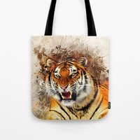 fierce Tote Bags featuring Fierce by Robin Curtiss
