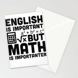 English Is Important But Math Is Importanter Stationery Cards