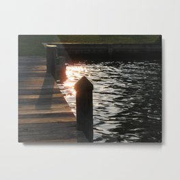 Sunset Pier Metal Print