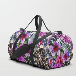 Tropical Flower Hibiscus Garden Duffle Bag