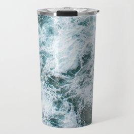 Waves in Abstract Travel Mug