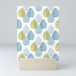 Mid-Century Modern Leaves Mini Art Print