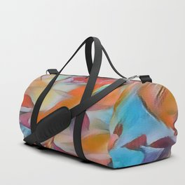 Heavenly Rose Petals Abstract - Orange Duffle Bag