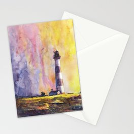 Bodie Island lighthouse at sunset in the Outer Banks (OBX) of North Stationery Cards