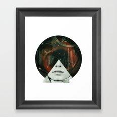Look into the stars Framed Art Print