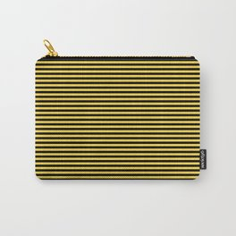 Even Horizontal Stripes, Yellow and Black, XS Carry-All Pouch