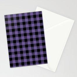Purple Buffalo Plaid Stationery Cards