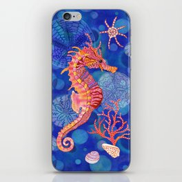 Seahorse in the Deep Blue iPhone Skin