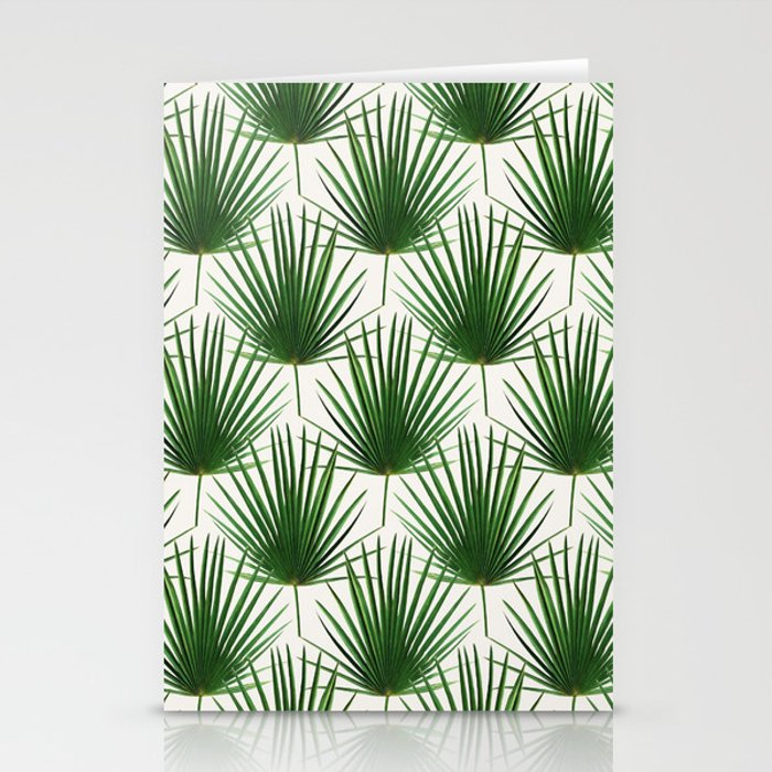 Simple Palm Leaf Geometry Stationery Cards