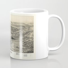 Aerial View of Archbald, Pennsylvania (1892) Coffee Mug