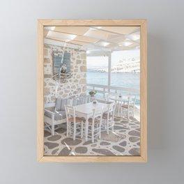 Summer In Greece Photo   Sea View Interior Design Crete Island Art Print   Europe Travel Photography Framed Mini Art Print