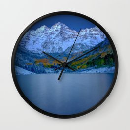 Maroon Bells at Dawn Wall Clock