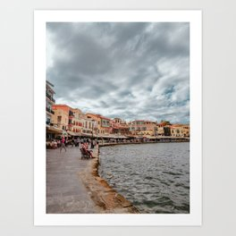 Chania Port • Travel Landscape / Greece Photography / Traveling & Lifestyle Collection Art Print