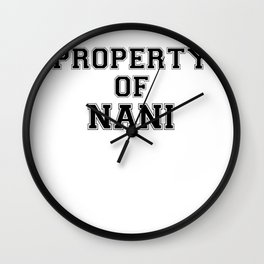 Property of NANI Wall Clock