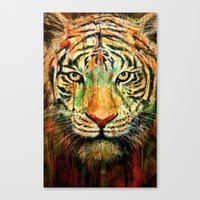 tiger Canvas Prints featuring Tiger by nicebleed