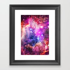 Doodles in Deep Space Framed Art Print