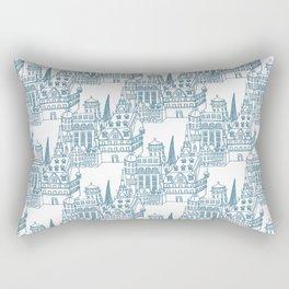 Buildings in Blue Rectangular Pillow