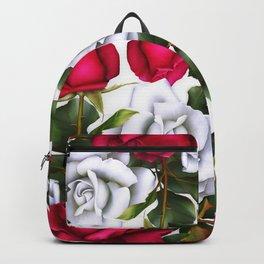 Red & White Roses Backpack