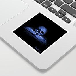 Memento mori - abyss blue Sticker