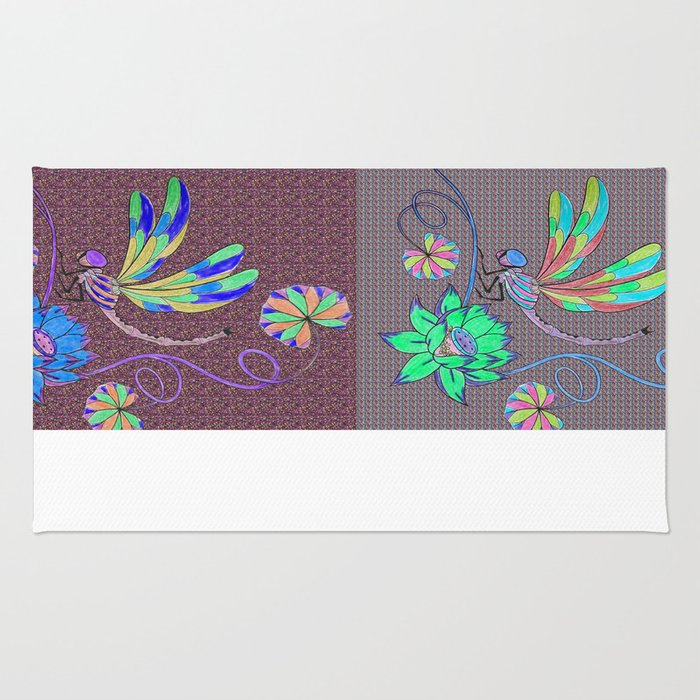 Dragonfly Collage  Rug