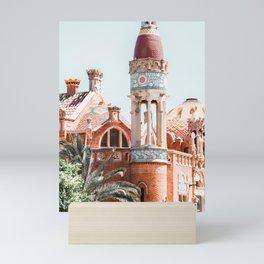 Sant Pau Hospital Tower Architecture Print, Barcelona Urban Modernist Architecture, City Art Print Mini Art Print