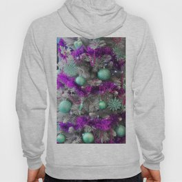 Christmas tree violet with mint Hoody