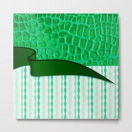 2in1 Pattern Serena green Metal Print