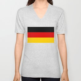 Flag of Germany - Authentic High Quality image Unisex V-Neck