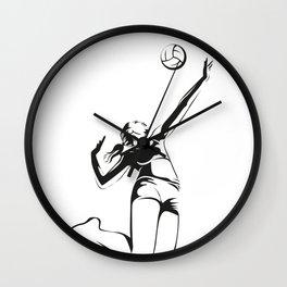 Beach volleyball player Wall Clock