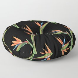 Bird of paradise flowers patten Floor Pillow