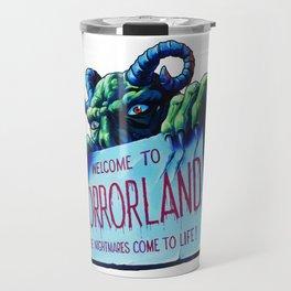 Welcome to Horrorland Travel Mug