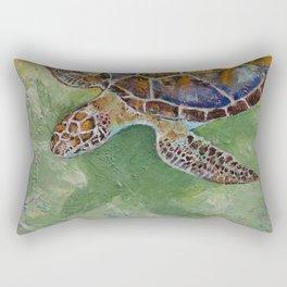 Caribbean Sea Turtle Rectangular Pillow