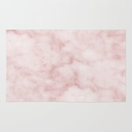 Sivec Rosa - cloudy pastel marble Rug