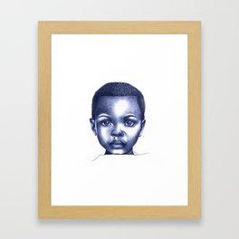 Deep Eyes Framed Art Print