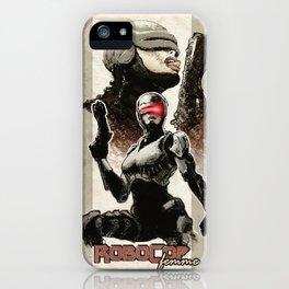 Robocop Girl - Desafío52 iPhone Case
