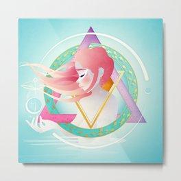Pisces :: Zodiac Geometry Metal Print