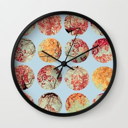 Cloud Inkblot Wall Clock